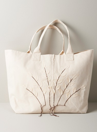 Chakra White Trees Çanta Ekru